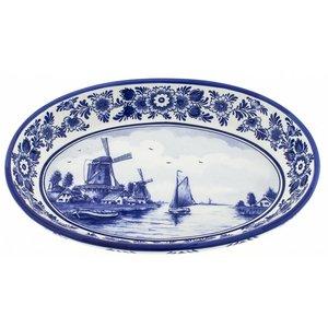 Heinen Delftware Serveerschaal Delfts Blauw