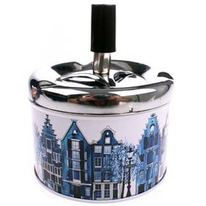 Typisch Hollands Press and turn ashtray Delft blue