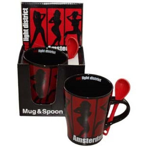 Typisch Hollands Mug with spoon - Red Light District