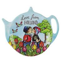 Typisch Hollands Untertasse - Teebeutel - Farbe Holland
