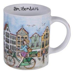 Typisch Hollands Kaffee-Tee-Becher - Fahrradstadt