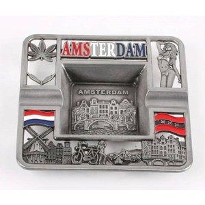 Typisch Hollands Asbak metaal - Amsterdam