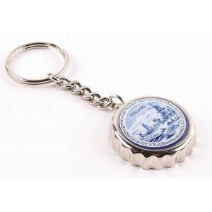 Typisch Hollands Key ring Crown cap - Delft blue