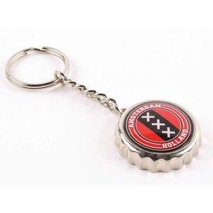 Typisch Hollands Keychain kroonkurk Amsterdam