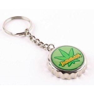 Typisch Hollands Keychain kroonkurk weed sheet Amsterdam