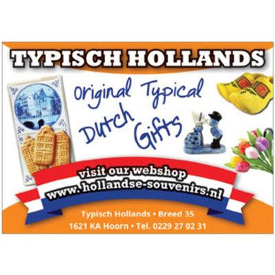 Typisch Hollands Wandbord - Delfts blauw - Amsterdam
