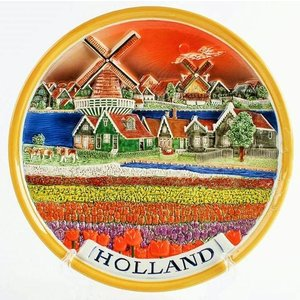 Typisch Hollands Wandbord 25 cm Hollands landschap