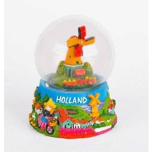 Typisch Hollands Waterbol molenlandschap Holland 10 cm