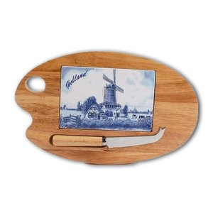 Typisch Hollands Cheese board palette Delft blue