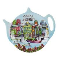 Typisch Hollands Tee Untertasse - Amsterdam - Magere Brug