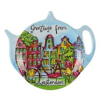 Typisch Hollands Tea dish - Amsterdam - Canal houses