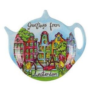 Typisch Hollands Tee Untertasse - Amsterdam - Canalhouses