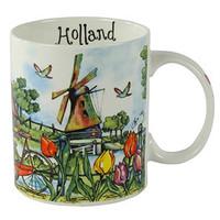 Typisch Hollands Beker colorful Holland - Molens