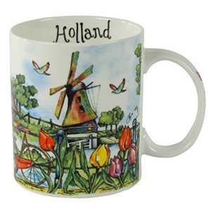 Typisch Hollands Beker colorful Holland - Molens