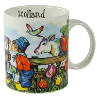 Typisch Hollands Cup colorful Holland - Farmers couple - Cow