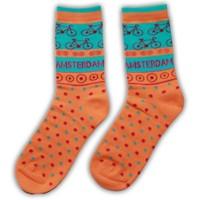 Robin Ruth Fashion Dames sokken - Oranje - Fiets