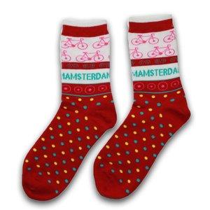 Holland sokken Dames sokken - Rood - Fiets