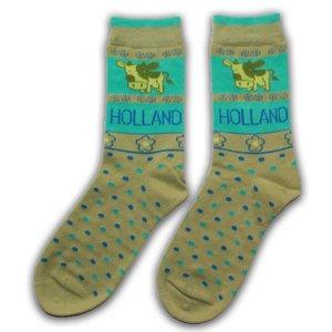 Holland sokken Ladies socks - Cows - Green