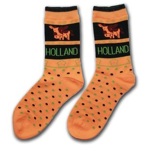 Robin Ruth Fashion Ladies socks - Cows - Orange