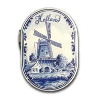 Typisch Hollands Spiegel Mühle Delfter Holland