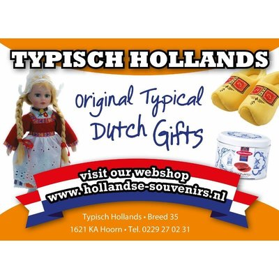 Typisch Hollands Tafelbel met Vlag brons