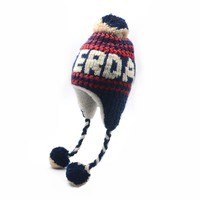 Robin Ruth Fashion Amsterdam hat - Cable pattern - Navy / White