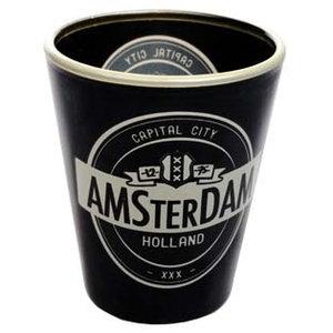 Typisch Hollands Schnapsglas Amsterdam Guinness