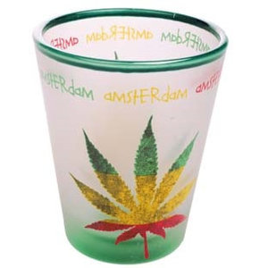 Typisch Hollands Shot glass Amsterdam Rasta