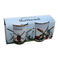 Typisch Hollands Borrelglaasjes - set van 2 - Molens