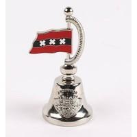 Typisch Hollands Handbell with flag mat-silver Amsterdam