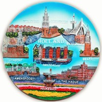 Typisch Hollands Wandbord Color - Holland 20 cm