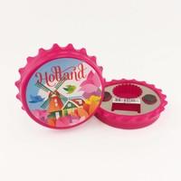 Typisch Hollands Magneet Kroonkurk - Tulpen - Holland