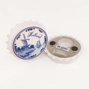 Typisch Hollands Magnet Kronkorken - Delfter Blau