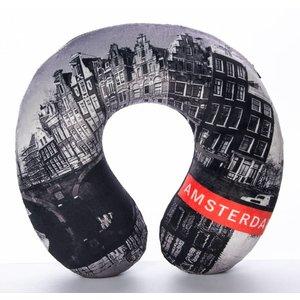 Robin Ruth Fashion Neck Pillow - Facade Houses Amsterdam