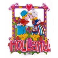 Typisch Hollands Magneet  kussend paartje Holland