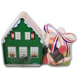 Typisch Hollands Oud Hollands snoephuisje - Blik
