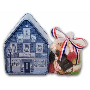 Typisch Hollands Snoephuisje - Delfts blauw
