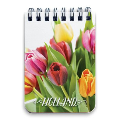Typisch Hollands Notitieboekje - Ringband A7 Tulpen