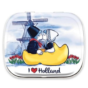 Typisch Hollands Tin Can Minimints - Kiss Couple in clog