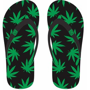 Robin Ruth Fashion Slippers Cannabis Happy -Green