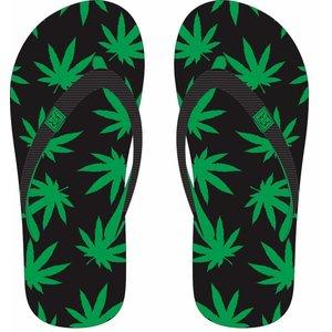 Robin Ruth Fashion Slippers Cannabis Happy -Green