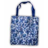 Typisch Hollands Bag - Foldable Delft blue - Tulips