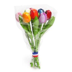 Typisch Hollands Houten Tulpen (20cm)in MIX boeket.