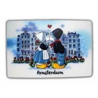 Typisch Hollands Placemat Kiss couple Amsterdam