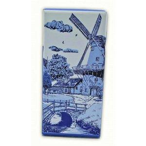 Typisch Hollands Chocoladetablet - Delfts blauw - Brug bij Molen