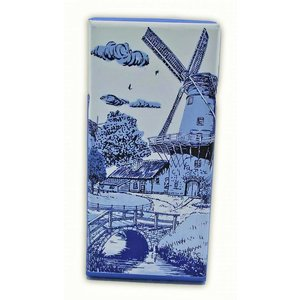 Typisch Hollands Chocolate tablet - Delft blue - Bridge at Molen