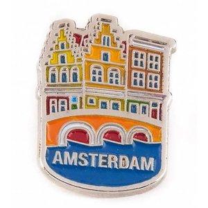 Typisch Hollands Pin Häuser Amsterdam Silber