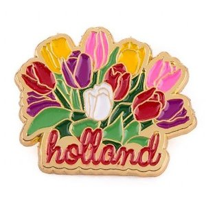 Typisch Hollands Pin tulpenbos Holland goud