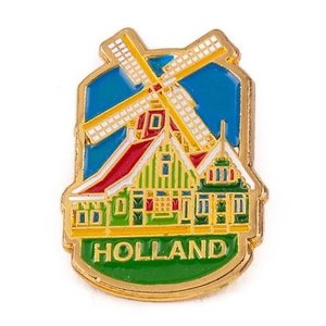 Typisch Hollands Pin Mühle Häuser Holland Gold