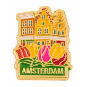 Typisch Hollands Pin Häuser Amsterdam Gold